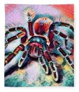 Mexican Red Knee Tarantula Fleece Blanket