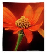 Mexican Sunflower Fleece Blanket