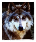 Mexican Wolves Fleece Blanket