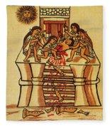 Mexico: Aztec Sacrifice Fleece Blanket