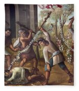 Mexico: Christian Martyrs Fleece Blanket