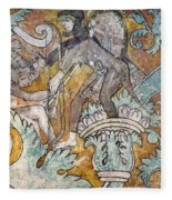 Mexico: Ixmiquilpan Fresco Fleece Blanket