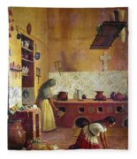 Mexico: Kitchen, C1850 Fleece Blanket