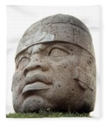 Mexico: Olmec Head Fleece Blanket