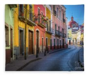 Mexico Street Fleece Blanket