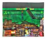 Mgm Grand Las Vegas Fleece Blanket