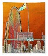 Mhh Bridge Abstract Fleece Blanket