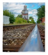 Mi New Haven Rail Road Reflections Fleece Blanket