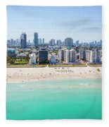 Miami Beach Fleece Blanket