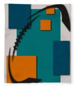 Miami Dolphins Football Art Fleece Blanket