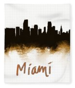 Miami Fla 2 Skyline Fleece Blanket