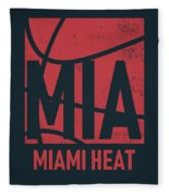 Miami Heat City Poster Art Fleece Blanket