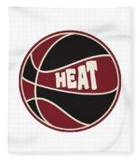 Miami Heat Retro Shirt Fleece Blanket