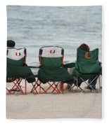 Miami Hurricane Fans Fleece Blanket