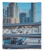 Miami Marina Fleece Blanket