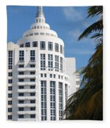 Miami S Capitol Building Fleece Blanket