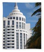 Miami S Capitol Building Fleece Blanket