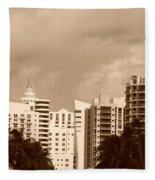 Miami  Sepia Sky Fleece Blanket