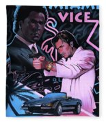 Miami Vice Fleece Blanket