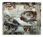 Michelangelo: Adam Fleece Blanket