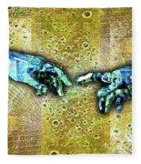 Michelangelo's Creation Of Man Fleece Blanket