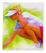 Michelle Wie Of Usa Lined Her Ball Fleece Blanket