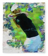 Michelle Wie Street Art Fleece Blanket