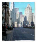 Michigan Ave Tall Fleece Blanket