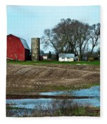 Michigan Farm Fleece Blanket