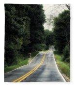 Michigan Rural Roadway In September Fleece Blanket