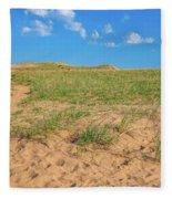 Michigan Sand Dune Landscape In Summer Fleece Blanket