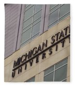 Michigan State University Signage 02 Fleece Blanket