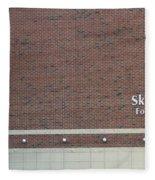 Michigan State University Skandalaris Football Center Signage Fleece Blanket