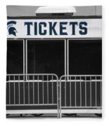 Michigan State University Tickets Booth Sc Signage Fleece Blanket