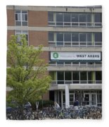 Michigan State University Welcome To Akers Signage Fleece Blanket