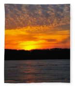 Michigan Sunset Fleece Blanket