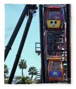 Mickey Donald Ferris Wheel California  Fleece Blanket