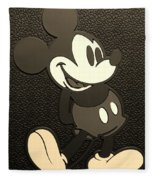 Mickey Mat Sepia Fleece Blanket