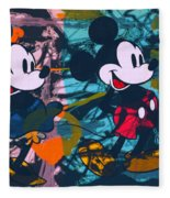 Mickey Mouse Vs. Minnie Mouse Stage On Fleece Blanket
