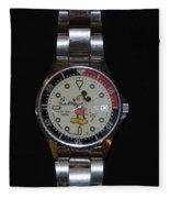 Mickey Mouse Watch Fleece Blanket