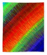 Micro Linear Rainbow Fleece Blanket