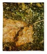 Microcosm Of Fall Fleece Blanket
