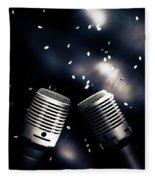Microphone Club Fleece Blanket