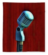 Microphone Fleece Blanket