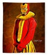 Middle Ages Iron Man Fleece Blanket