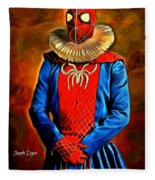 Middle Ages Spider Man Fleece Blanket