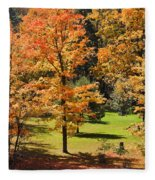 Middle Falls Viewpoint In Letchworth State Park Fleece Blanket