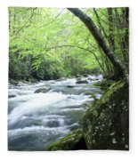 Middle Fork River Fleece Blanket