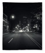 Middle Of The Road Fleece Blanket