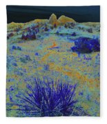 Midnight At The Burning Coal Vein Fleece Blanket